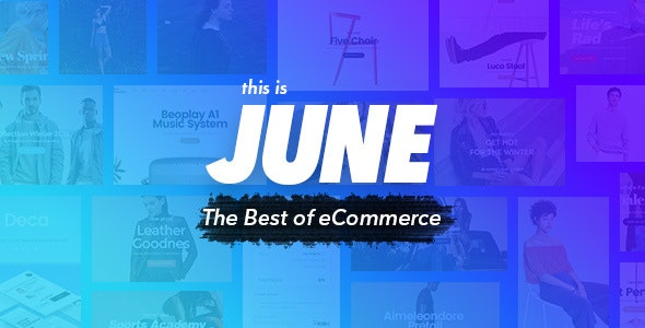 June - Multi-Purpose eCommerce Template - Retail Photoshop