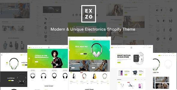 Modern Electronics eCommerce Shopify Theme - Exzo - Technology Shopify