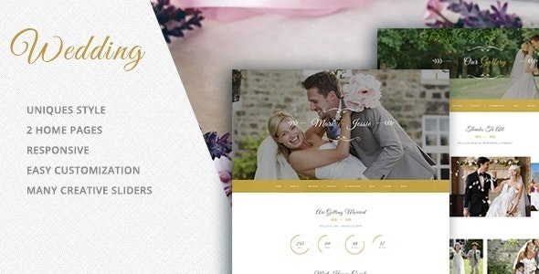 Wedding - Photography HTML Template - Wedding Site Templates