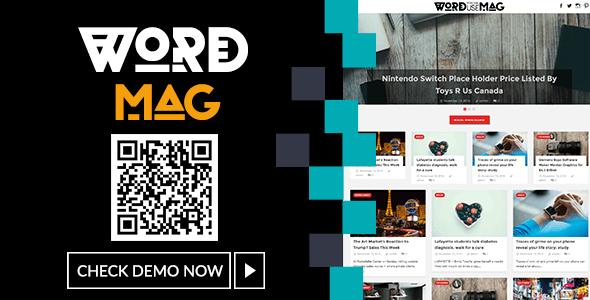 WordMag - Clean News/Magazine Blog - Blog / Magazine WordPress