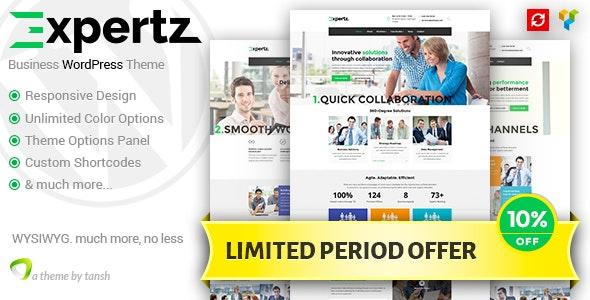 Expertz Business WordPress Theme - Business Corporate