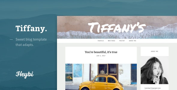 Tiffany: Sweet Blog Template That Adapts - Blogging