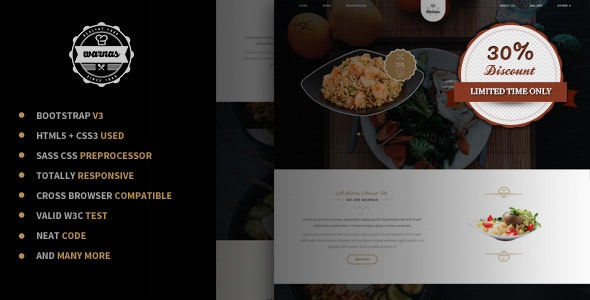 Warnas - Awesome Cafe & Restaurant Template - Restaurants & Cafes Entertainment