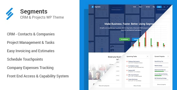 Segments - CRM & Project Management WordPress Theme - Business Corporate
