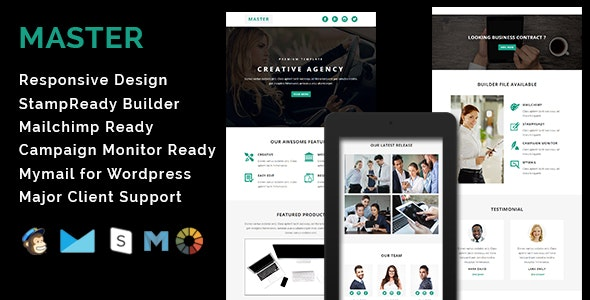 MASTER - Responsive Email Template - Email Templates Marketing