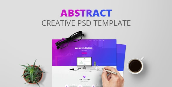 Abstract - Creative PSD Template - Creative Photoshop
