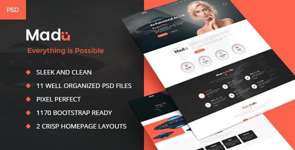 Madu | Creative Multi-Purpose PSD Template - Business Corporate