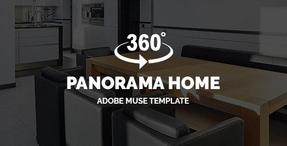 Panorama Home - Real Estate 360° Virtual Tour | Adobe Muse Template - Corporate Muse Templates