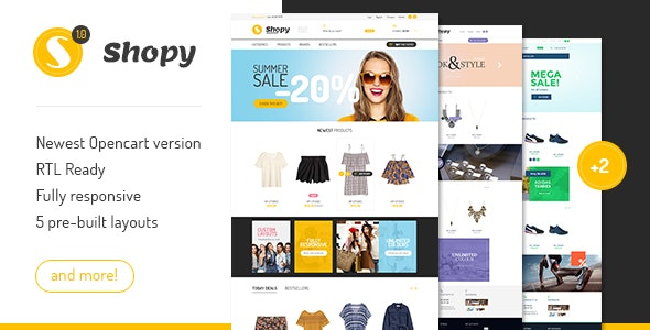 Shopy - Multipurpose Responsive Opencart Theme - OpenCart eCommerce