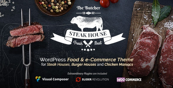 The Butcher - WordPress Food Theme for Meat Restaurants - Food Retail
