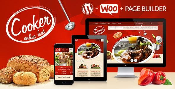 Cooker - Responsive Online Restaurant, Cafe Bar - WooCommerce eCommerce