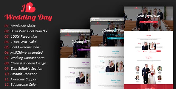 Wedding | HTML5 Responsive Wedding Template - Wedding Site Templates