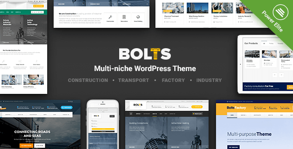 Bolts - WordPress Theme for Construction, Transport and similar Business - Business Corporate