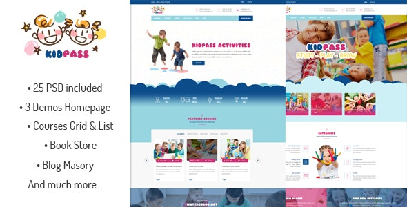 KidPass Education PSD Template - Miscellaneous Photoshop