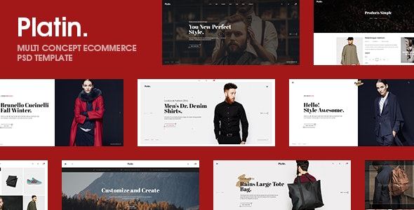 Platin  |  A Premium Multi - Ecommerce PSD Template - Shopping Retail