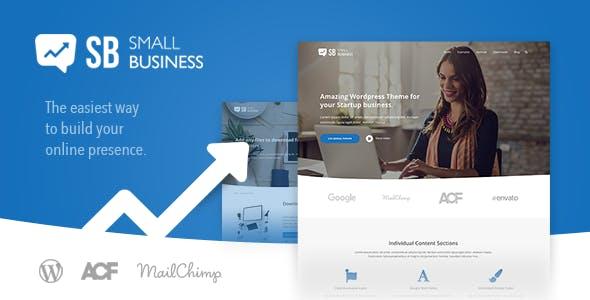 Small Business CD - Modern Blog & Website WordPress Theme for Start Up ideas