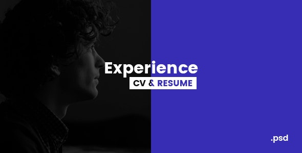 Experience - CV/Resume PSD Template - Virtual Business Card Personal