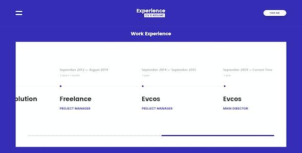Experience - CV/Resume PSD Template