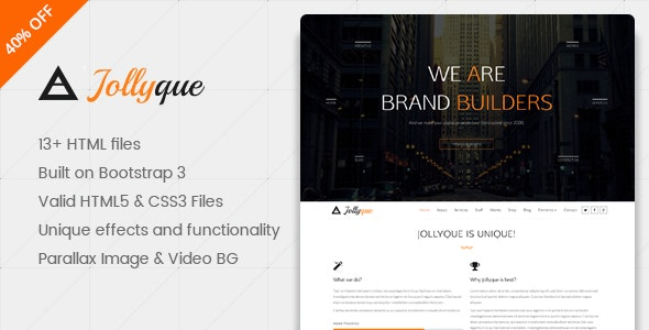 Jollyque – Onepage Portfolio HTML5 Website Template - Portfolio Creative