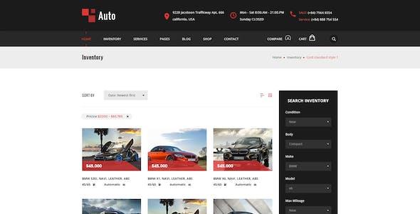 AUTO – Modern Car Rental Service PSD Template