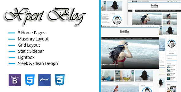 Xpert Blog Responsive HTML Template - Personal Site Templates