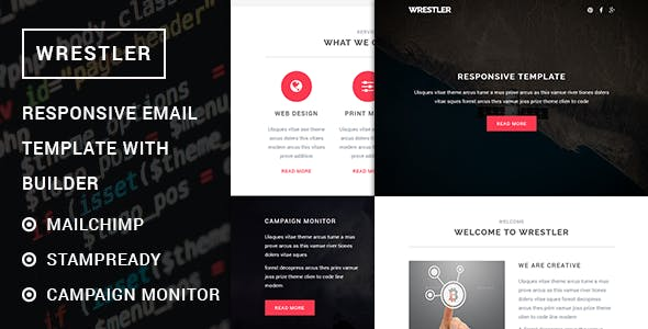 Wrestler - Responsive Multipurpose Email template with Stampready builder