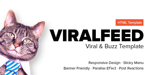ViralFeed - Viral & Buzz Template - Retail Site Templates
