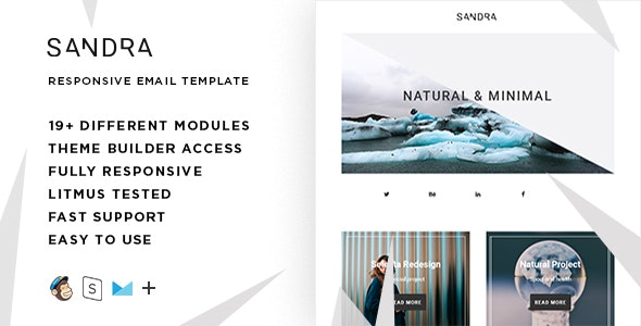 Sandra  – Responsive HTML Email + StampReady, MailChimp & CampaignMonitor compatible files - Email Templates Marketing