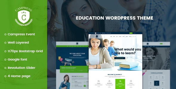 Campress - Responsive Education WordPress Theme - Education WordPress
