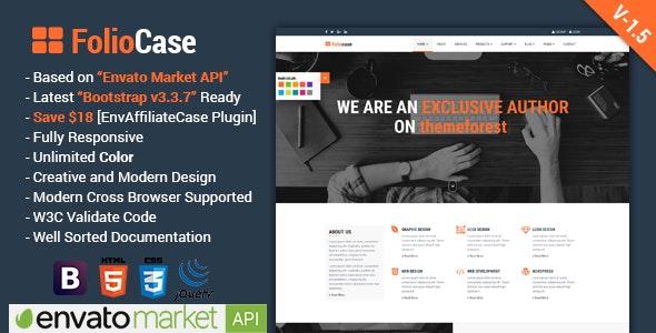 FolioCase | Multipurpose Business with Envato Portfolio & Affiliate Template - Business Corporate