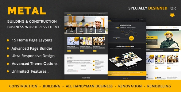 Metal - Building & Construction Business WordPress Themes - Business Corporate