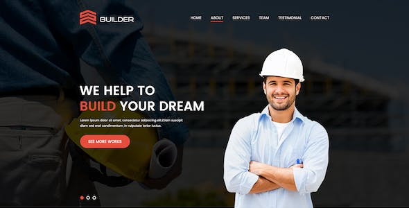 Builder - Construction & Building Company PSD Template