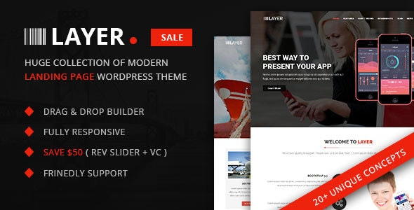 Layer -  SaaS & Startup Landing Page WordPress Theme - Corporate WordPress