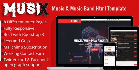 MusiX – Music Band Html Template