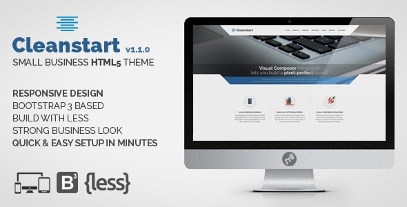 Small Business HTML Theme - CLEANSTART - Business Corporate