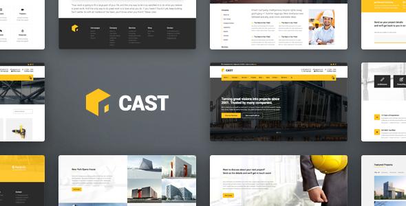 Cast - Construction & Building WordPress Theme - Business Corporate