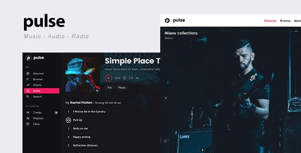 pulse - Music, Audio, Radio WordPress Theme - Music and Bands Entertainment
