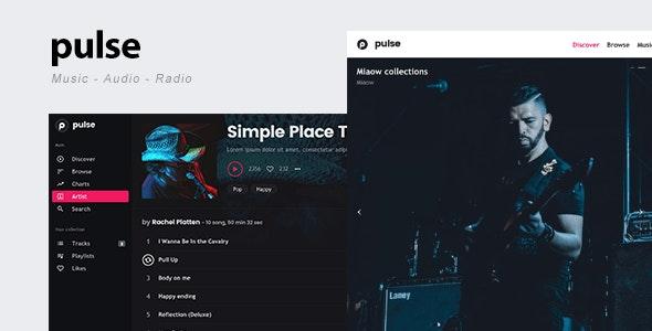 pulse - Music, Audio, Radio WordPress Theme by Flatfull