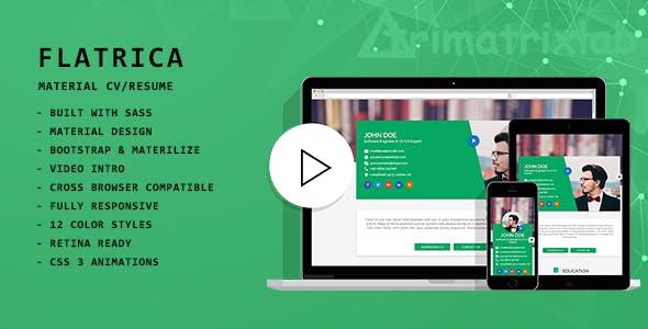 Flatrica | Material CV/Resume