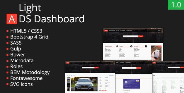 Light Ads Dashboard - Business Corporate