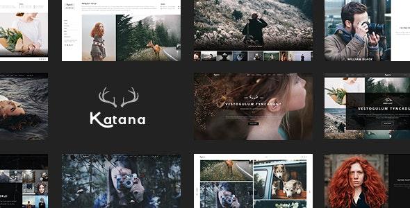Katana - Photography & Portfolio PSD Template - Portfolio Creative