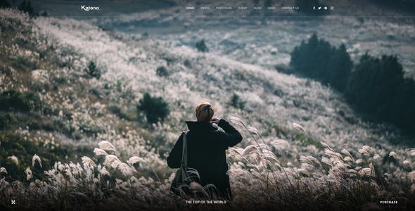 Katana - Photography & Portfolio PSD Template