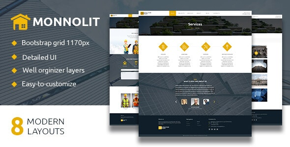 MONNOLIT — Construction PSD Template - Business Corporate