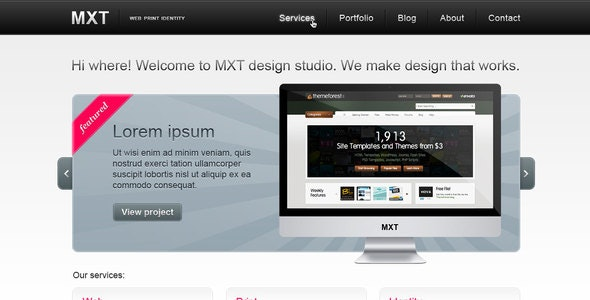 MXT — Business Portfolio Template (PSD) - Portfolio Creative