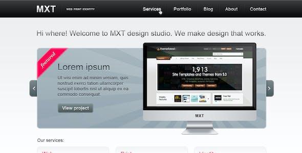 MXT — Business Portfolio Template (PSD)