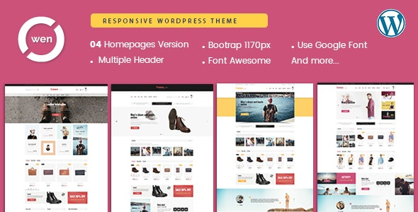 Owen - Fashion & Multipurpose WordPress Theme - WooCommerce eCommerce