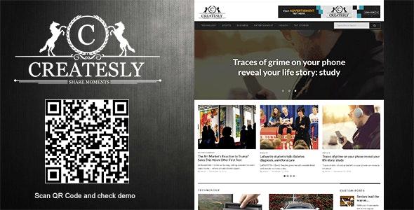 Createsly - News Magazine/Blogging Theme - Blog / Magazine WordPress