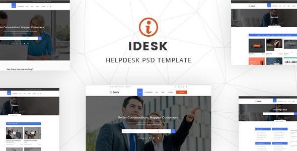 iDesk - Author HelpDesk EDD Shop PSD Template - Corporate Photoshop