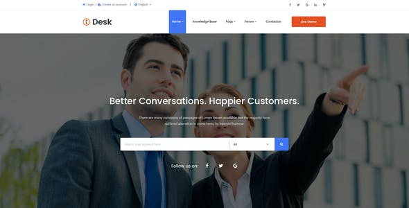 iDesk - Author HelpDesk EDD Shop PSD Template