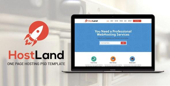 HostLand - One Page Hosting PSD Template - Hosting Technology